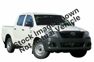 2013 Toyota Hilux TGN16R MY12 Workmate Double Cab 4x2 White 4 Speed Automatic Utility Mill Park Whittlesea Area Preview
