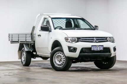 2011 Mitsubishi Triton MN MY11 GLX 4x2 White 5 Speed Manual Cab Chassis Welshpool Canning Area Preview