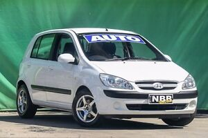 2007 Hyundai Getz TB MY07 SX Noble White 4 Speed Automatic Hatchback Ringwood East Maroondah Area Preview