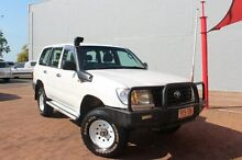 2004 Toyota Landcruiser HZJ105R Standard White 5 Speed Manual Wagon The Gardens Darwin City Preview