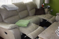 All Leather Recliner Sofa, Love Seat and Chair