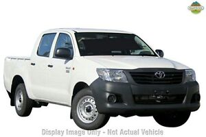2013 Toyota Hilux TGN16R MY12 Workmate Double Cab White 4 Speed Automatic Utility Frankston Frankston Area Preview