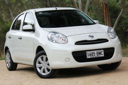 2013 Nissan Micra K13 MY13 ST White 4 Speed Automatic Hatchback Hawthorn Mitcham Area Preview