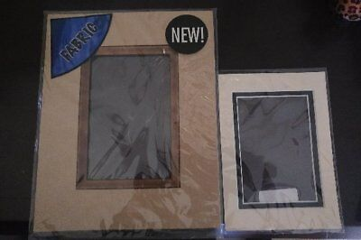 """2 Frame Mats - Brown/Copper and Ivory/Navy - 4x6"""" +Epson Photo Paper"""