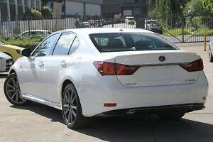 2013 Lexus GS300H AWL10R F Sport White 8 Speed Constant Variable Sedan Hybrid Petersham Marrickville Area Preview