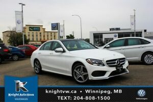 2017 Mercedes-Benz  C 300 4MATIC w/ AMG PKG/Only3800K/Sunroof/Na