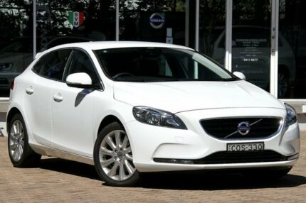 2013 Volvo V40 M D4 Kinetic Ice White 6 Speed Automatic Hatchback Lindfield Ku-ring-gai Area Preview