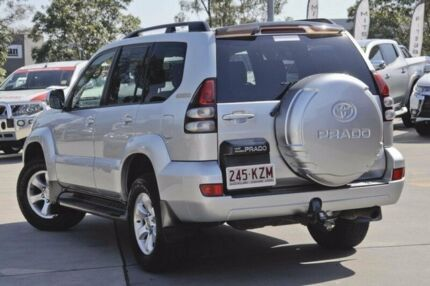 2008 Toyota Landcruiser Prado GRJ120R GXL Silver 5 Speed Automatic Wagon Burpengary Caboolture Area Preview