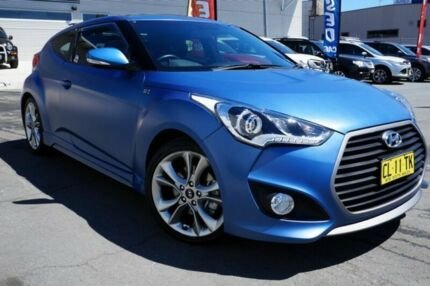 2016 Hyundai Veloster FS5 Series II SR Coupe D-CT Turbo Blue 7 Speed Sports Automatic Dual Clutch