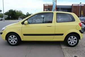 2009 Hyundai Getz TB MY09 S Yellow 4 Speed Automatic Hatchback Berwick Casey Area Preview