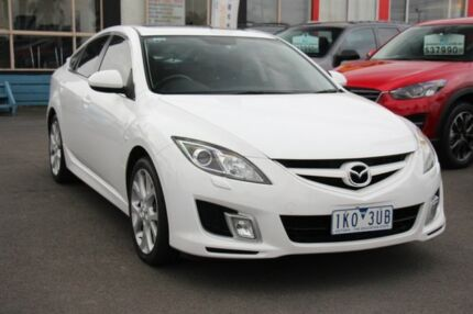 2008 Mazda 6 GH1051 Luxury Sports White 5 Speed Sports Automatic Hatchback Heatherton Kingston Area Preview