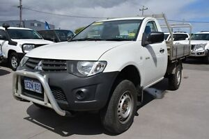 2011 Mitsubishi Triton MN MY11 GL White 5 Speed Manual Cab Chassis Welshpool Canning Area Preview