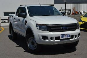 2013 Ford Ranger PX XL Double Cab 4x2 Hi-Rider White 6 Speed Sports Automatic Cab Chassis Claremont Nedlands Area Preview