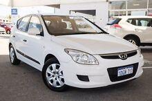 2010 Hyundai i30 FD MY10 SX White 5 Speed Manual Hatchback Osborne Park Stirling Area Preview