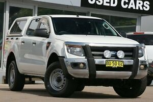 2013 Ford Ranger PX XL 2.2 (4x4) White 6 Speed Manual Crewcab Dee Why Manly Area Preview