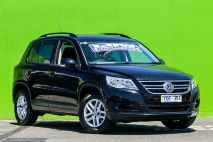 2010 Volkswagen Tiguan 5N MY11 125TSI DSG 4MOTION Black 7 Speed Sports Automatic Dual Clutch Wagon Ringwood East Maroondah Area Preview