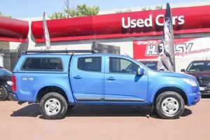 2014 Holden Colorado RG MY14 LX Crew Cab Blue 6 Speed Sports Automatic Utility