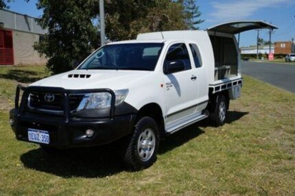 2012 Toyota Hilux KUN26R MY12 SR Xtra Cab White 5 Speed Manual Cab Chassis Pearsall Wanneroo Area Preview