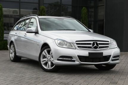 2012 Mercedes-Benz C200 W204 MY12 BlueEFFICIENCY Estate 7G-Tronic + Silver 7 Speed Sports Automatic