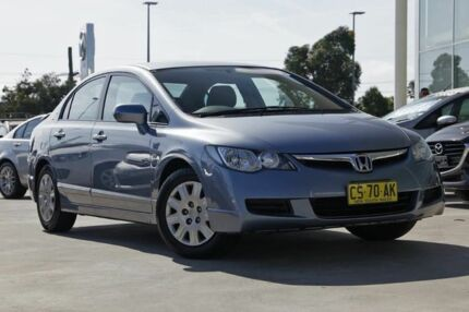 2008 Honda Civic 8th Gen MY08 VTi Blue 5 Speed Automatic Sedan Kirrawee Sutherland Area Preview
