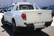 2015 Mitsubishi Triton MN MY15 GLX-R Double Cab White 5 Speed Sports Automatic Utility Seaford Frankston Area Preview