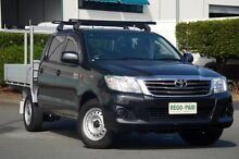 2012 Toyota Hilux GGN15R MY12 SR Double Cab Black 5 Speed Automatic Utility Acacia Ridge Brisbane South West Preview