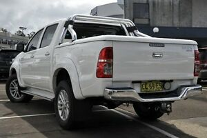 2013 Toyota Hilux KUN26R MY12 SR5 (4x4) White 5 Speed Manual Dual Cab Pick-up Dee Why Manly Area Preview
