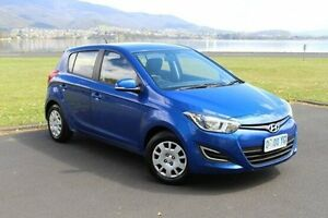 2014 Hyundai i20 PB MY15 Active Blue 6 Speed Manual Hatchback Invermay Launceston Area Preview