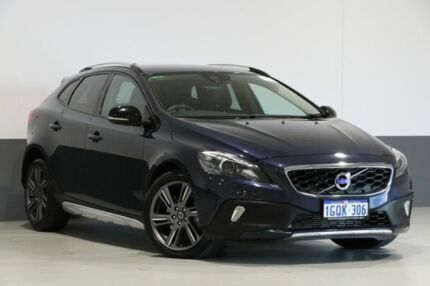 2014 Volvo V40 M MY15 T5 Cross Country Blue 8 Speed Automatic Hatchback Bentley Canning Area Preview