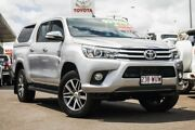 2016 Toyota Hilux GUN126R SR5 Double Cab Silver 6 Speed Sports Automatic Utility Monkland Gympie Area Preview