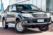2014 Toyota Hilux KUN26R MY14 SR5 Double Cab Eclipse Black 5 Speed Automatic Utility Wangara Wanneroo Area Preview