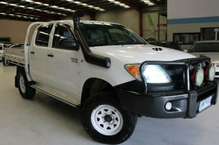2005 Toyota Hilux KUN26R SR (4x4) White 5 Speed Manual Dual Cab Pick-up