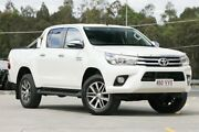 2015 Toyota Hilux GUN126R SR5 Double Cab White 6 Speed Sports Automatic Utility Springwood Logan Area Preview