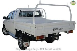 2013 Toyota Hilux KUN26R MY12 SR Double Cab White 5 Speed Manual Cab Chassis Westminster Stirling Area Preview