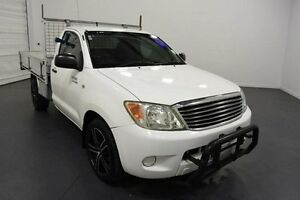 2005 Toyota Hilux RZN149R White 4 Speed Automatic Cab Chassis Moorabbin Kingston Area Preview