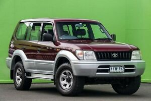 1997 Toyota Landcruiser Prado VZJ95R GXL Red 5 Speed Manual Wagon Ringwood East Maroondah Area Preview