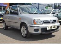 NISSAN MICRA 1.0 VIBE S 16V 3d 59 BHP 2 FORMER KEEPER, LOW MIL (silver) 2002