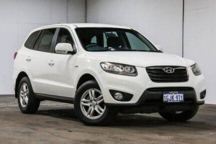 2010 Hyundai Santa Fe CM MY10 SLX White 6 Speed Sports Automatic Wagon Welshpool Canning Area Preview