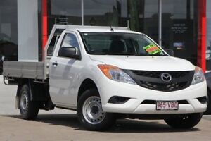 2013 Mazda BT-50 UP0YD1 XT 4x2 White 6 Speed Manual Cab Chassis Kippa-ring Redcliffe Area Preview