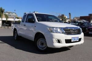 2014 Toyota Hilux GGN15R MY14 SR Glacier White 5 Speed Automatic X Cab Pickup