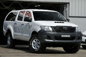 2013 Toyota Hilux KUN26R MY12 Workmate (4x4) White 4 Speed Automatic Dual Cab Pick-up Mosman Mosman Area Preview