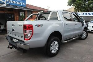 2013 Ford Ranger PX XLT 3.2 (4x4) Silver 6 Speed Manual Dual Cab Utility Hamilton Newcastle Area Preview