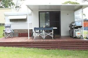 On-site Caravan at Narooma with hard walled annexe & deck Narooma Eurobodalla Area Preview