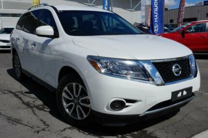 2013 Nissan Pathfinder R52 MY14 ST X-tronic 4WD White 1 Speed Constant Variable Wagon