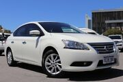 2013 Nissan Pulsar B17 ST-L White Continuous Variable Sedan Northbridge Perth City Area Preview