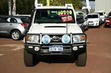 2011 Toyota Landcruiser VDJ79R MY10 GXL White 5 Speed Manual Cab Chassis Cannington Canning Area Preview