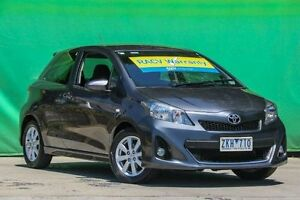 2012 Toyota Yaris NCP131R ZR Grey 5 Speed Manual Hatchback Ringwood East Maroondah Area Preview