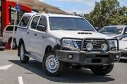 2015 Toyota Hilux KUN26R MY14 SR Double Cab Glacier White 5 Speed Automatic Utility Noosaville Noosa Area Preview
