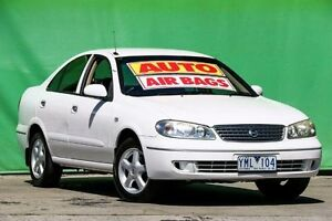 2005 Nissan Pulsar N16 MY2004 ST-L White 4 Speed Automatic Sedan Ringwood East Maroondah Area Preview