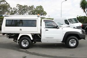 2011 Nissan Patrol GU 6 MY10 DX White 5 Speed Manual Cab Chassis Acacia Ridge Brisbane South West Preview